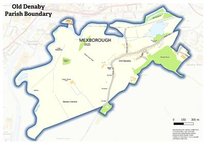 Old Denaby Parish Boundary Map
